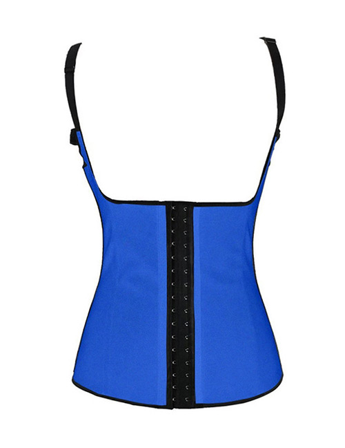 Fashion Blue Suspender Design Corset