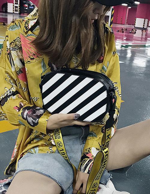 Fashion White+black Stripe Pattern Decorated Bag
