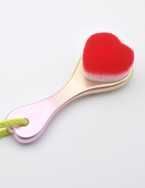Fashion Red Heart Shape Decorated Washing Brush
