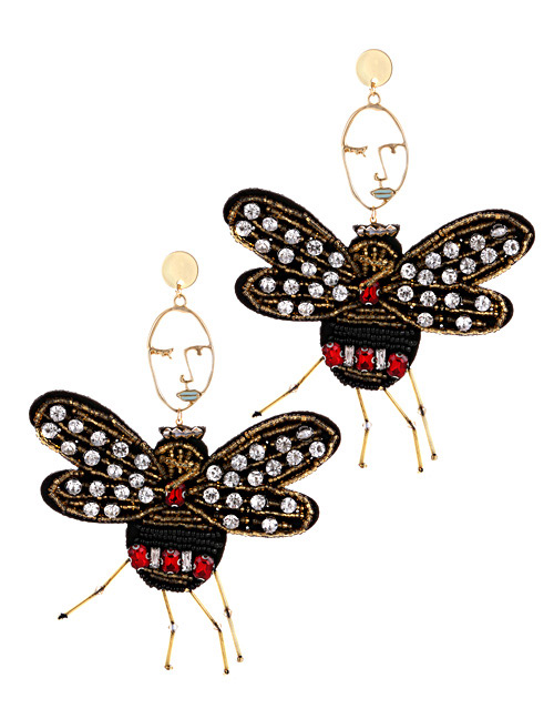 Fashion Black Butterfly Shape Decorated Shoe Accessories(2pcs)