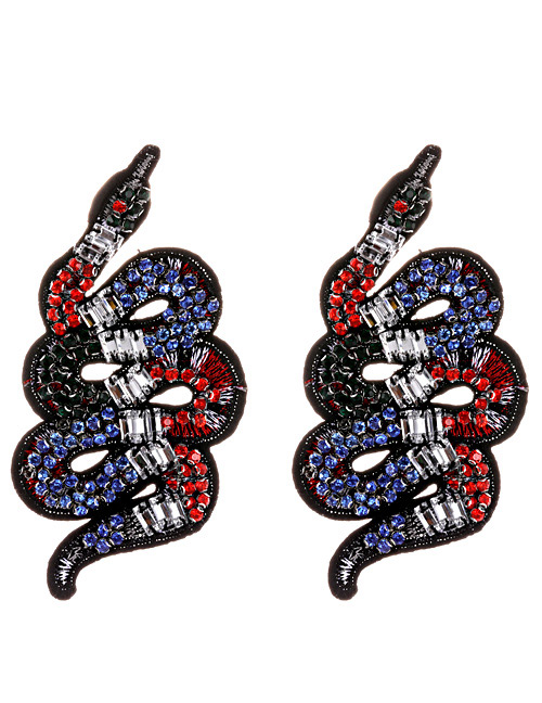 Fashion Multi-color Snake Shape Decorated Shoe Accessories(2pcs)