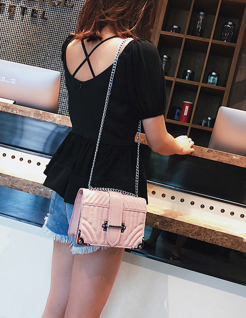 Fashion Pink Stripe Pattern Decorated Bag