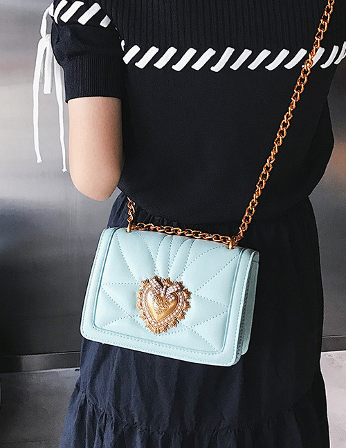 Fashion Blue Heart Shape Decorated Bag
