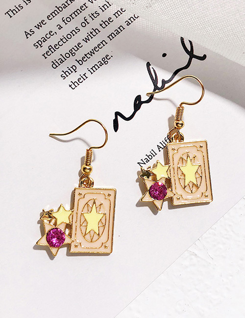 Fashion Pink Star Shape Decorated Earrings