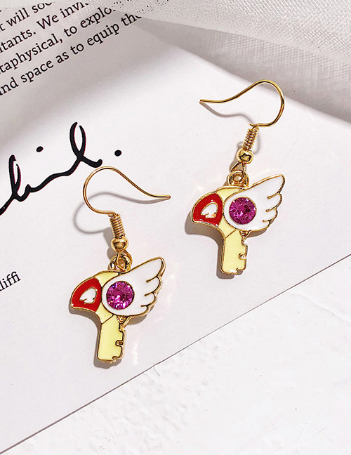 Fashion Gold Color Wing Shape Design Earrings