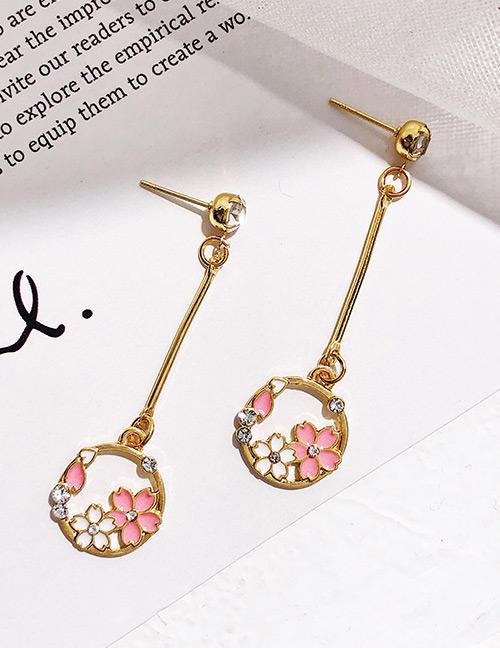Fashion Gold Color Flower Shape Design Earrings