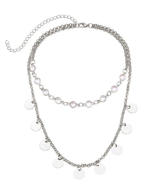 Fashion Silver Color Pure Color Decorated Necklace