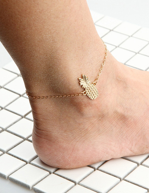 Fashion Gold Color Pure Color Decorated Ankle Chain