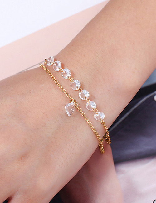 Fashion Gold Color Double Layer Design Bracelet