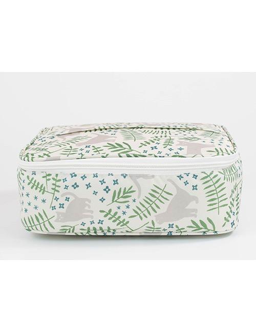 Fashion Green Leaf Pattern Decorated Storage Bag