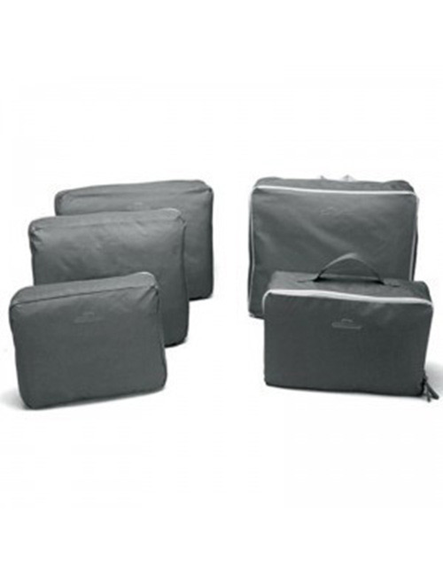 Fashion Gray Pure Color Decorated Storage Bag(5pcs)