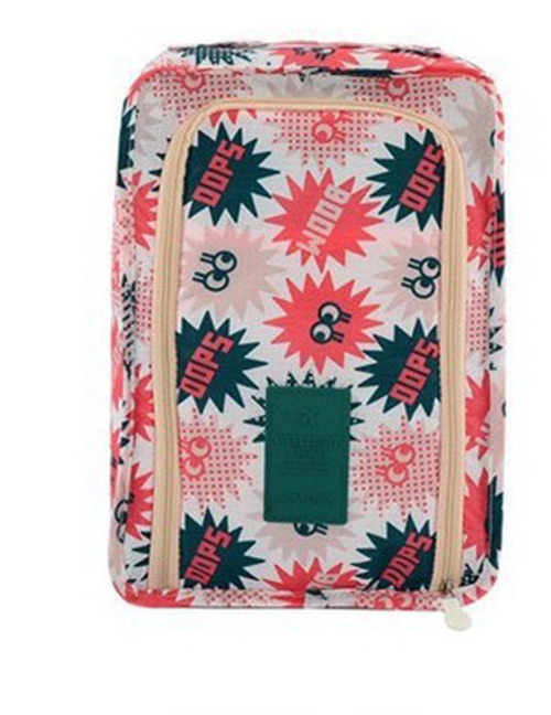 Fashion Red Letter Pattern Decorated Storage Bag