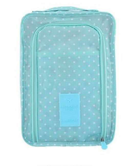 Fashion Blue Dots Pattern Decorated Storage Bag
