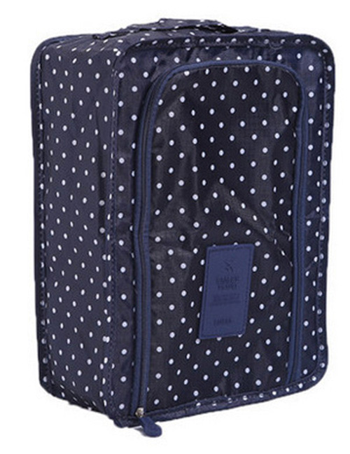 Fashion Navy Dots Pattern Decorated Storage Bag