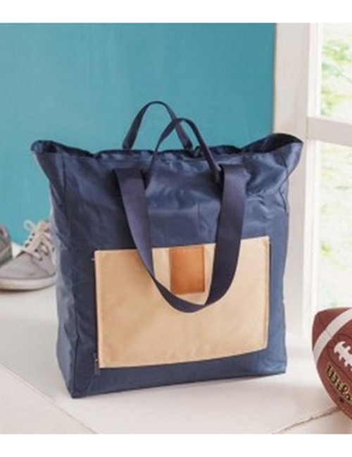 Fashion Navy Color-matching Decorated Laptop Bag