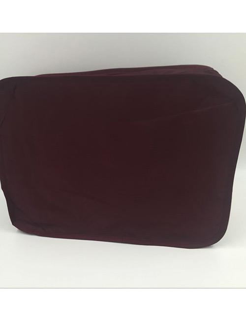 Fashion Claret Red Pure Color Decorated Storage Bag(6pcs)