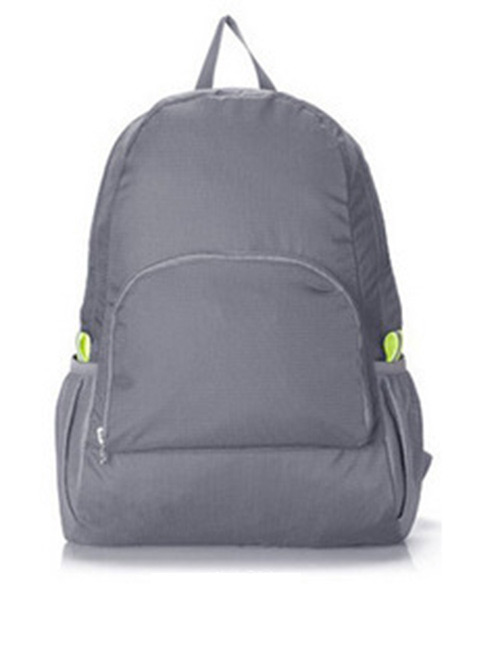Fashion Gray Pure Color Decorated Backpack