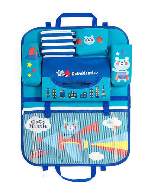 Fashion Blue Cartoon Patterns Decorated Storage Bag