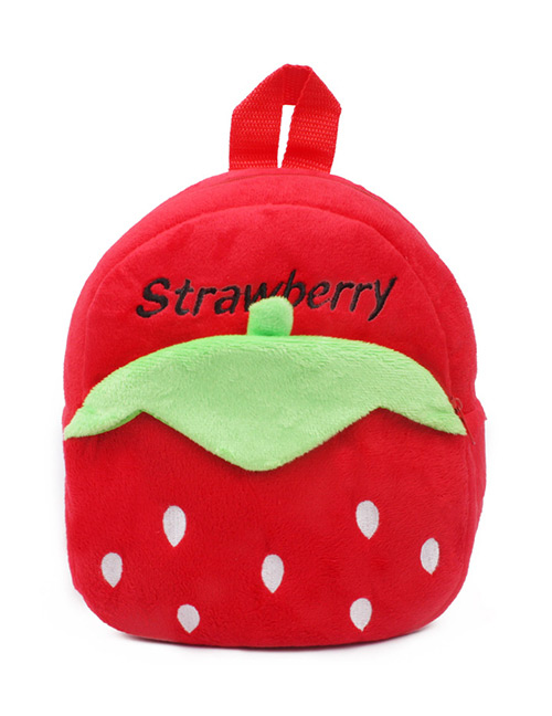 Fashion Red Strawberry Shape Decorated Bag