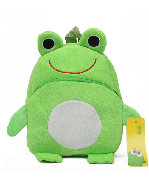 Fashion Green Frog Shape Decorated Bag