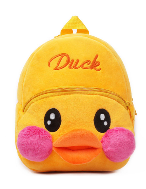 Fashion Yellow Duck Shape Decorated Bag