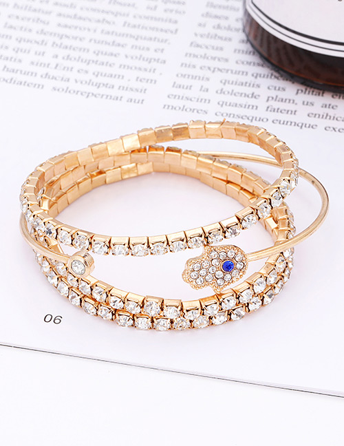 Fashion Gold Color Hand Shape Decorated Bracelet(4 Pcs )