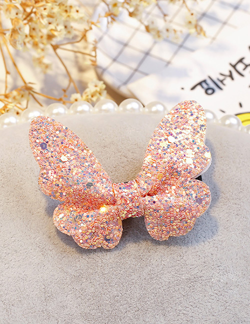 Fashion Pink Butterfly Shape Decorated Hair Clip