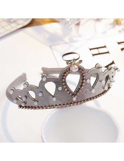 Fashion Gray Crown Shape Decorated Hair Accessories