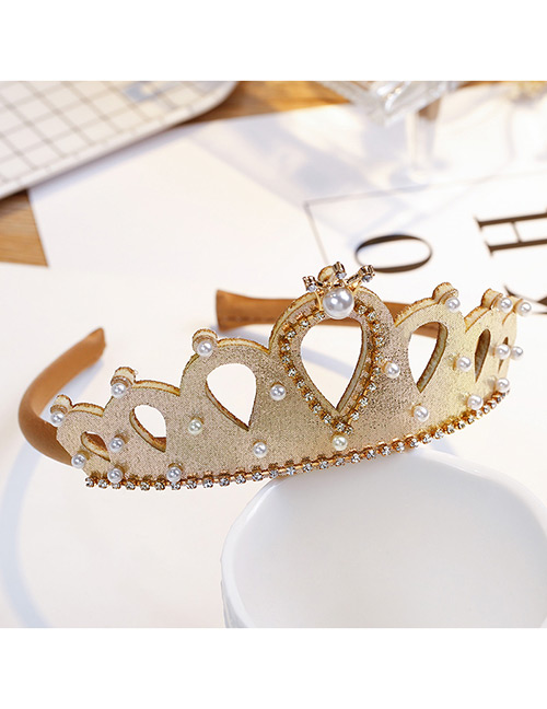 Fashion Gold Color Crown Shape Decorated Hair Accessories