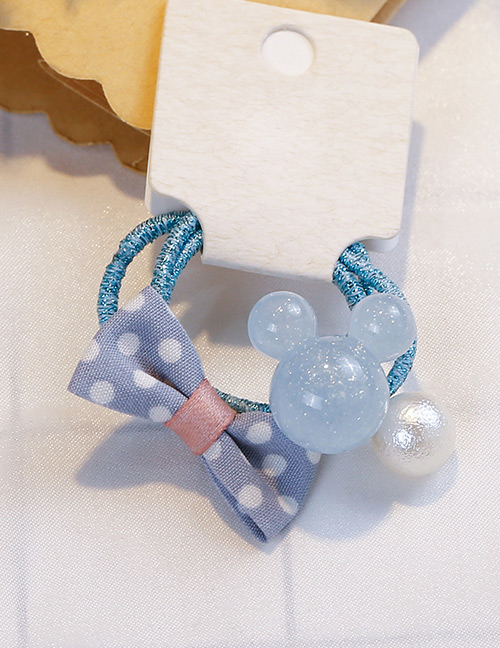 Fashion Blue Bowknot Shape Decorated Hair Band (3 Pcs)