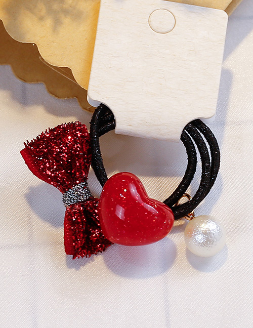 Fashion Red Heart&bowknot Shape Decorated Hair Band (3 Pcs)