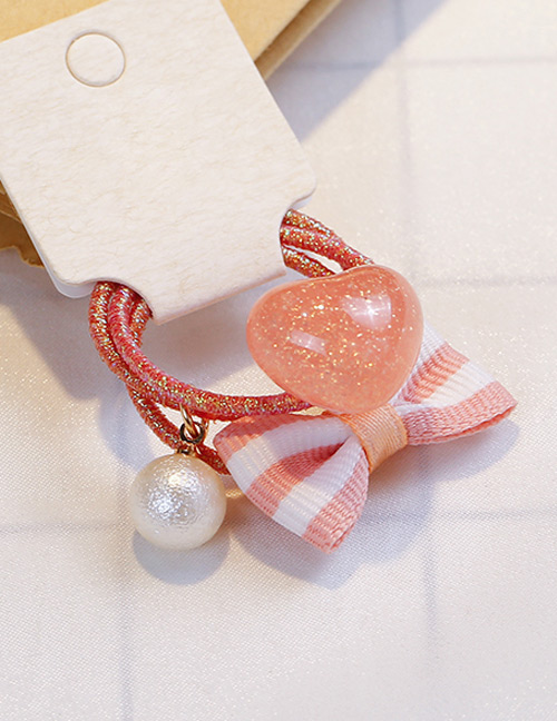 Fashion Pink+white Bowknot&heart Shape Decorated Hair Band (3 Pcs)
