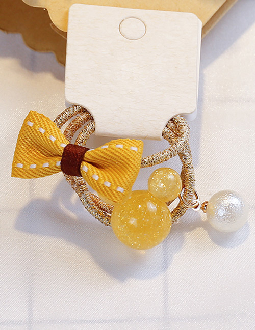 Fashion Yellow Bowknot Shape Decorated Hair Band (3 Pcs)
