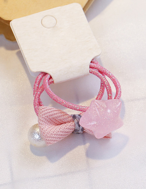Fashion Pink Star Shape Decorated Hair Band(3 Pcs)