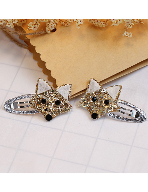 Fashion Gold Color Fox Shape Decorated Hair Clip (2 Pcs )