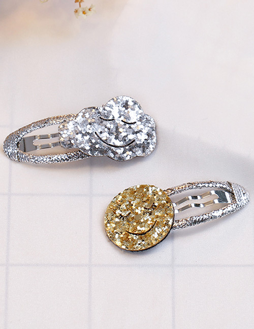 Fashion Silver Color+gold Color Clound&smile Shape Decorated Hair Clip (2 Pcs)