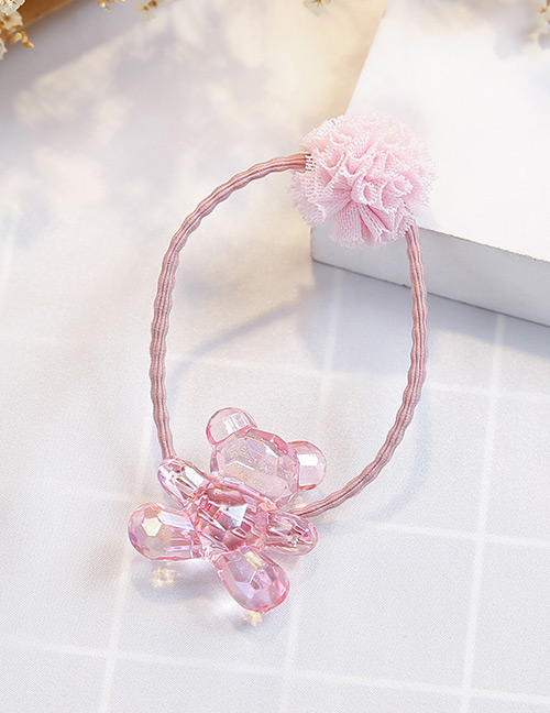 Fashion Light Pink Bear Shape Decorated Hair Band