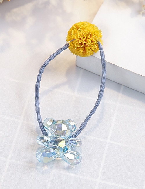 Fashion Blue+yellow Bear Shape Decorated Hair Band