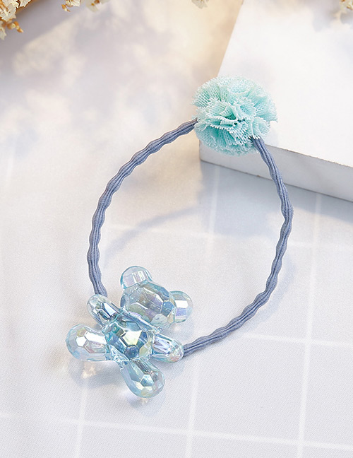 Fashion Blue+green Bear Shape Decorated Hair Band