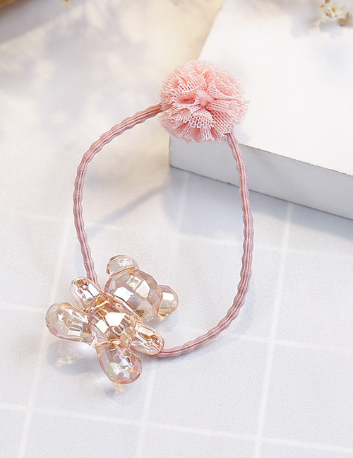 Fashion Champagne+pink Bear Shape Decorated Hair Band