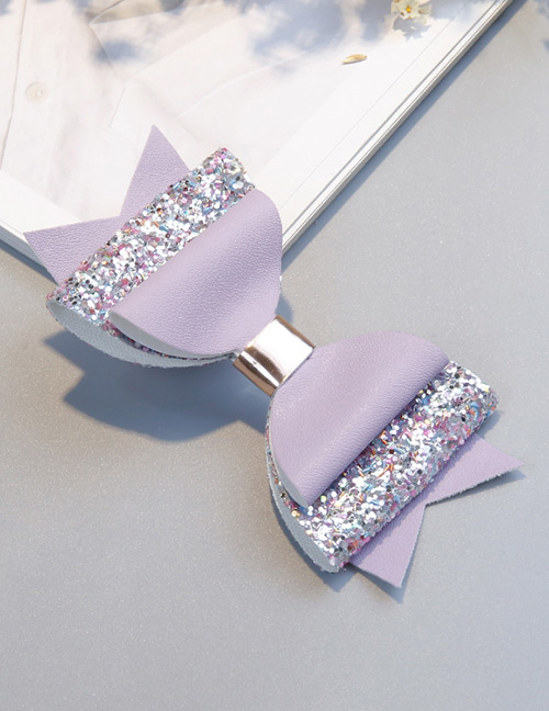Fashion Light Purple Bowknot Shape Decorated Hair Clip