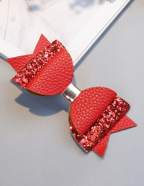 Fashion Red Bowknot Shape Decorated Hair Clip