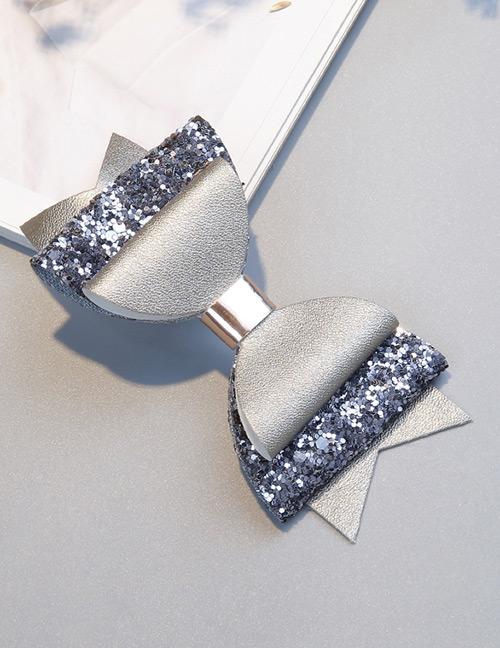Fashion Silver Color Bowknot Shape Decorated Hair Clip