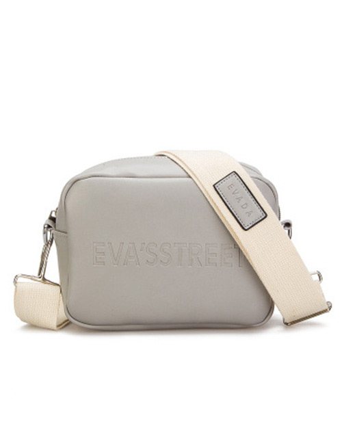 Simple Gray Pure Color Decorated Shoulder Bag