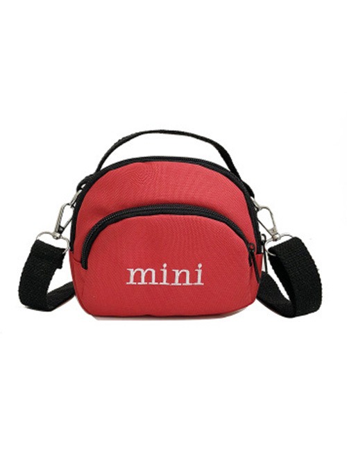 Simple Red Letter Pattern Decorated Handbag