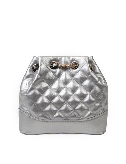 Fashion Silver Color Color Matching Decorated Shoulder Bag