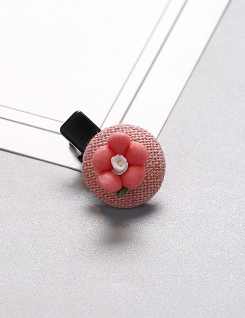 Fashion Light Pink Flower Shape Decorated Hair Clip