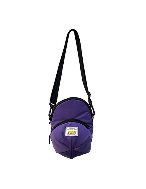 Simple Purple Cap Shape Decorated Shoulder Bag