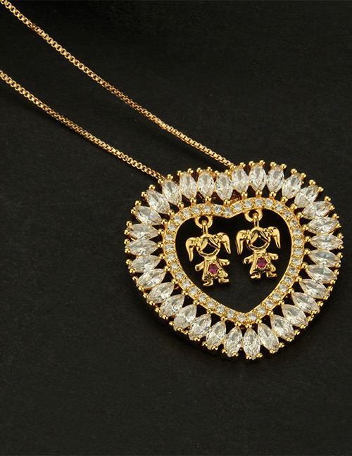 Fashion Gold Color Girl Shape Decorted Necklace