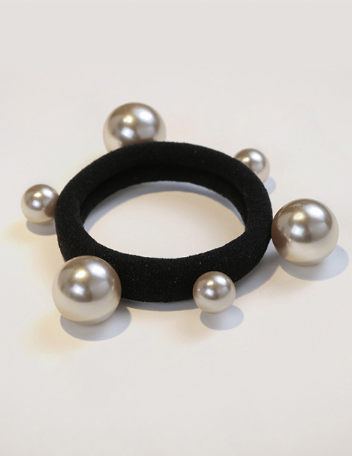 Fashion Champagne Bead Decorated Pure Color Hair Band
